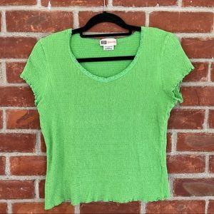 Faded Glory stretch green shirt